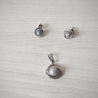 Комплект от стомана Сребърна перла