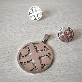 Комплект от стомана Кръст от кръгове