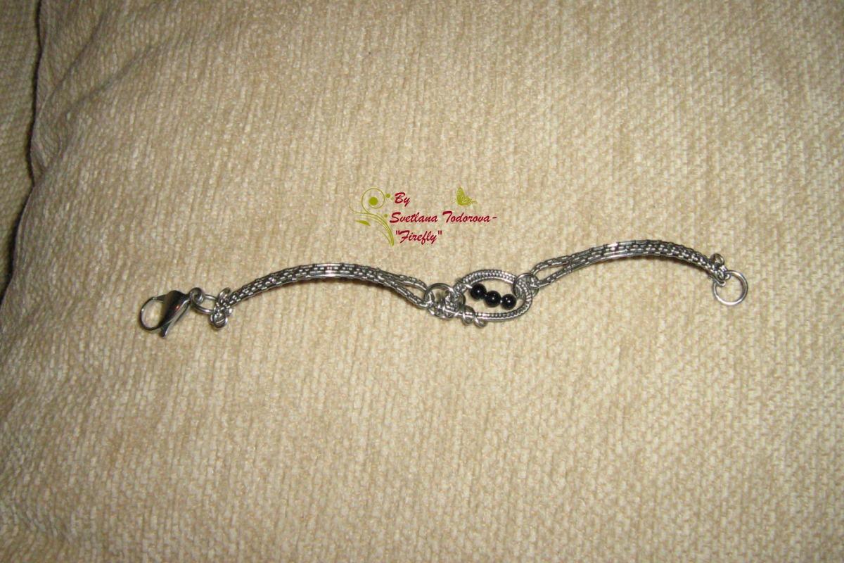 Ръчно изработена гривна от медицинска стомана клас 316