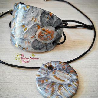 Комплект Фантазия - гривна и колие от полимерна глина