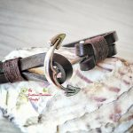 Ръчно изработена гривна от естествена кожа с котва