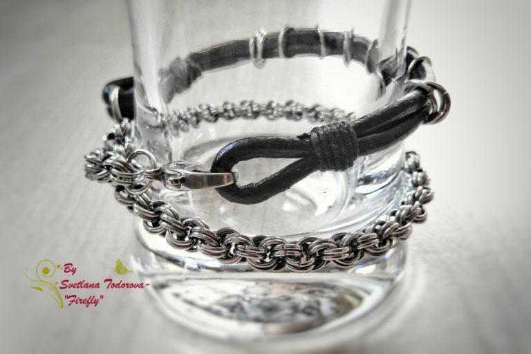 Ефектна, стилна и запомняща се гривна Стоманена хармония - перфектният подарък за истинския мъж