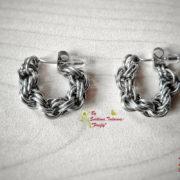 Двойна спирала – ръчно изработени обеци тип халки – Вашето стилно бижу ви очаква