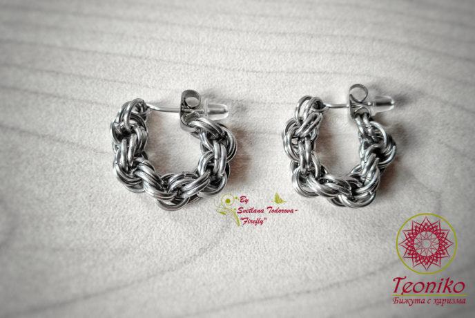 Двойна спирала - ръчно изработени обеци тип халки - Вашето стилно бижу ви очаква