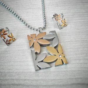 комплект Цветя от стомана