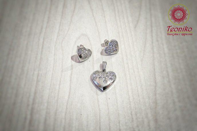 комплект от стомана Искрящо сърце