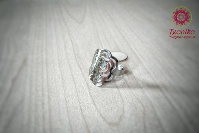 пръстен от медицинска стомана Роза