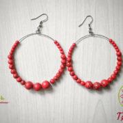 Ръчно изработени обеци с червен тюркоаз Тюркоазена страст