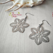 Ръчно изработени обеци от стомана Цветя