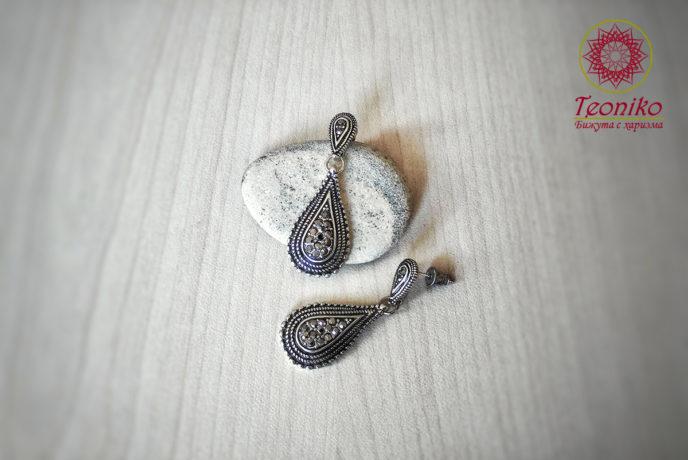 Обеци от стомана Капки сияние