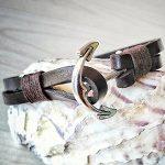 Гривна от естествена кожа с котва - чудесен подарък за мъжки празник