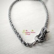 Ръчно изработен мъжки ланец от стомана Дракон