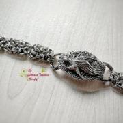 Ръчно изработена гривна от стомана Царски орел