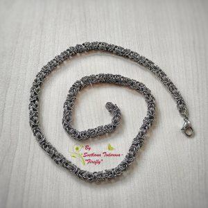 Ръчно изработен ланец от стомана Византия