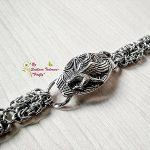 Подарък за Свети Валентин за мъж Ръчно изработена гривна от стомана Царски орел