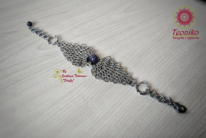 Ръчно изработена гривна от стомана Романс