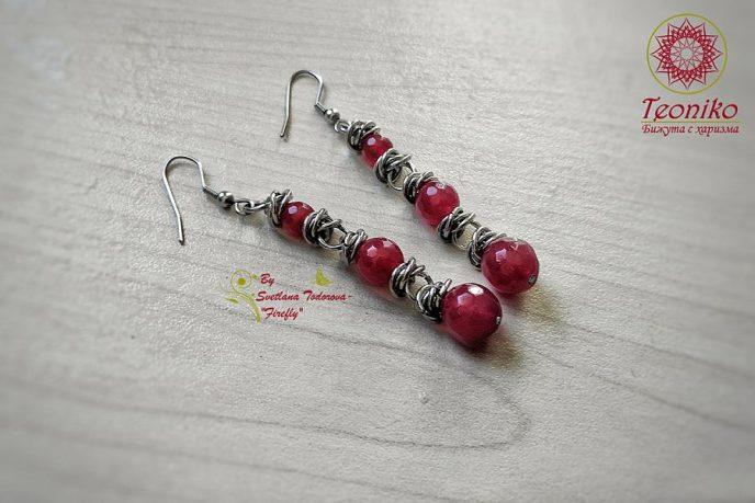 Ръчно изработени обеци от стомана Усещане за любов