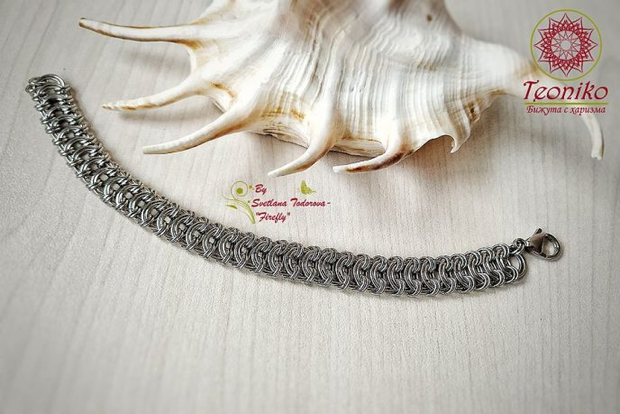 Ръчно изработена гривна от стомана Aleera