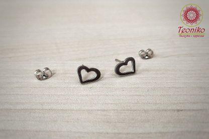 Обеци от стомана Сърце