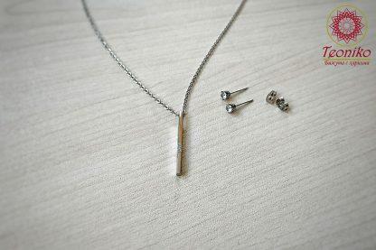 Комплект от стомана с цирконии Simple