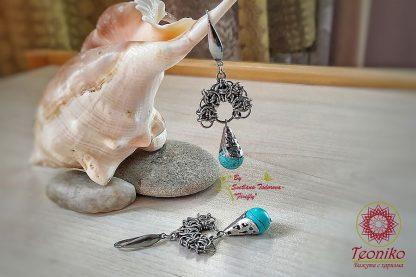 Ръчно изработени обеци от медицинска стомана Кибела