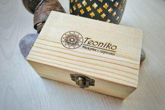 Гравирана кутийка за бижута от дърво
