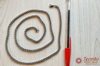 Ръчно изработен ланец от стомана Свет 4 мм