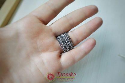 Ръчно изработен пръстен от стомана Европа