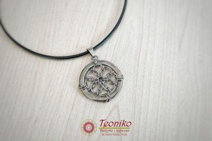 Ръчно изработен медальон от стомана Зеринтия