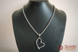 Ръчно изработено колие Сърце